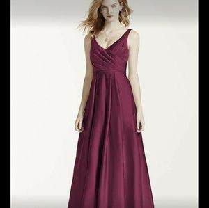 Wine Davids bridal Ball Gown